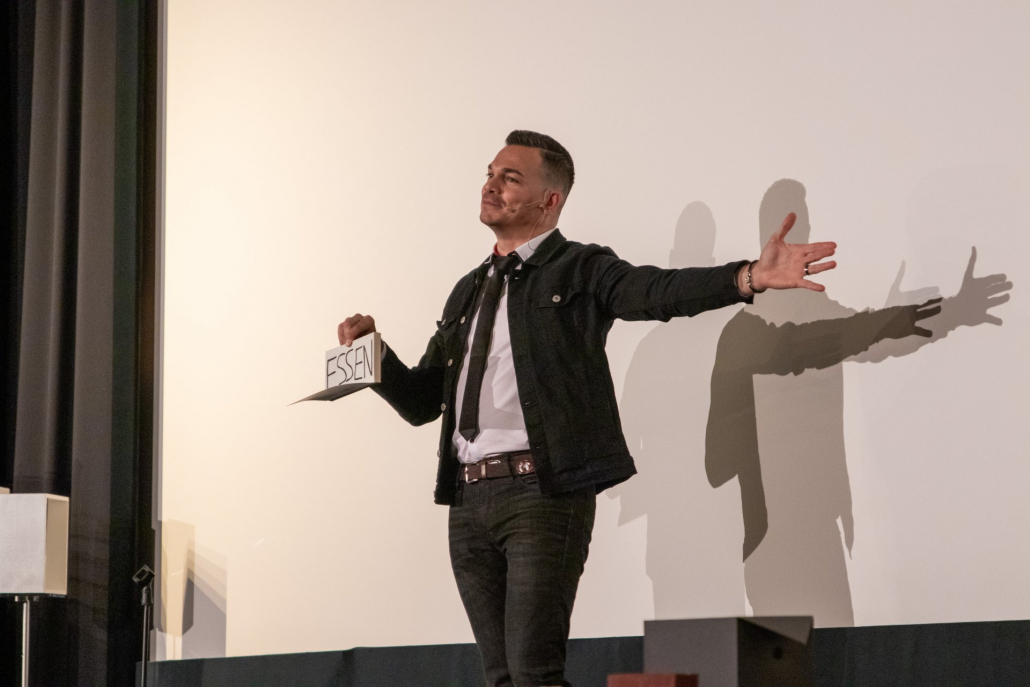 Incredible magic with Marco Miele on stage in Stutgart