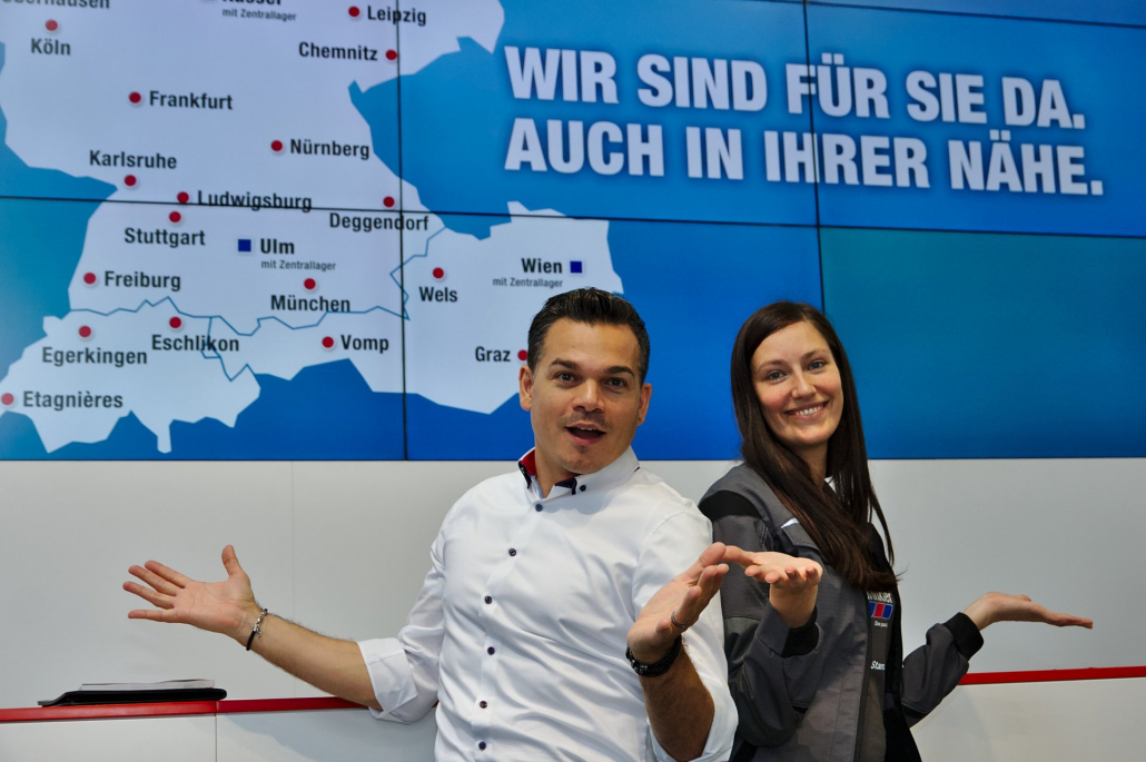 Marco Miele knows how to attract visitors to your stand in Stuttgart