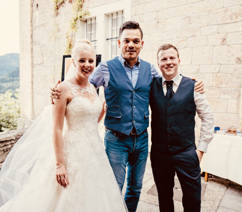 A special wedding in Munich with the magician and menatlist Marco Miele